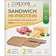 Sandwich Hi-Protein tostadas de trigo sarraceno y arroz sabor a jamón serrano y queso sin aceite de palma Envase 100 g Corpore diet
