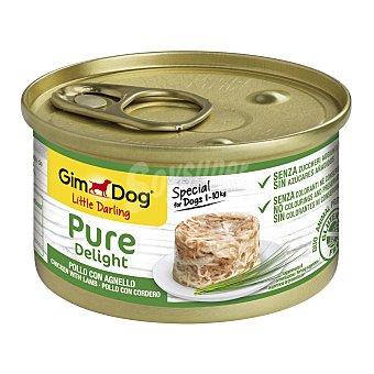 Gimdog Pure delight comida húmeda para perros pequeños con pollo y cordero sin gluten Lata 85 g