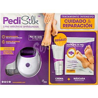 Clenosan Pedisilk tratamiento intensivo lima electrica antidurezas 1 unidad + regalo crema hidratante y mascara reparadora 1 unidad