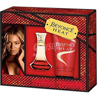 Beyonce eau de parfum natural femenina Heat vaporizador + body loción tubo 75 ml 50 ml