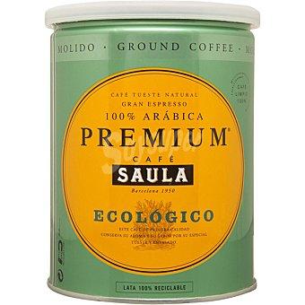 Saula café natural ecológico molido 100% arábica premium lata 250 g