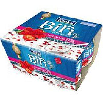 Kaiku Bifi Activium 0% con fresas Pack 4x125 g