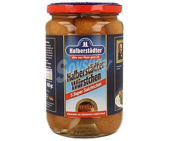 HALBERSTÄDTER Salchichas Bockwurst súper Bote 400 g (peso neto escurrido) 5 uds