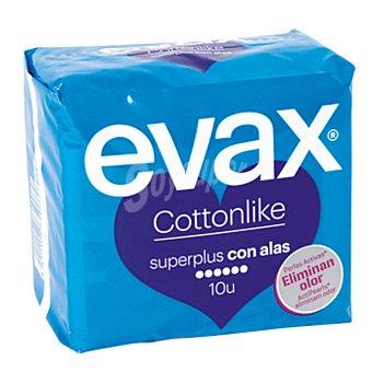 Evax Compresas Cottonlike superplus con alas 10 ud