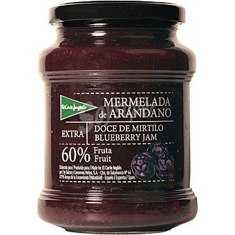 EL CORTE INGLES Mermelada de arándanos extra 60% fruta Tarro de 410 g