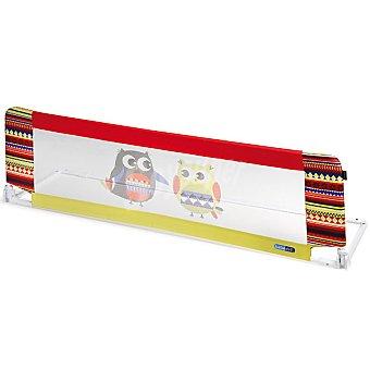 BEBE DUE Otto barrera abatible multicolor con dibujos de buhos para cama 140 cm