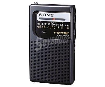SONY ICFS10MK2S6 Radio de bolsillo Analógica con sintonizador de radio am/fm