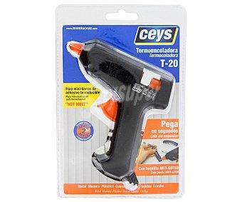 Ceys Pistola termoencoladora T-20 , para minibarras de adhesivos termofusibles 1 Unidad