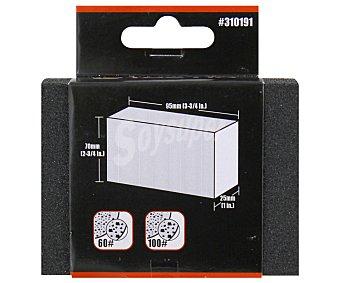 Tactix Taco de Lija K60/K100, 95x70x25 Milímetros 1 Unidad