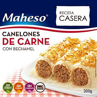 Maheso Canelones de carne con bechamel Caja 300 g