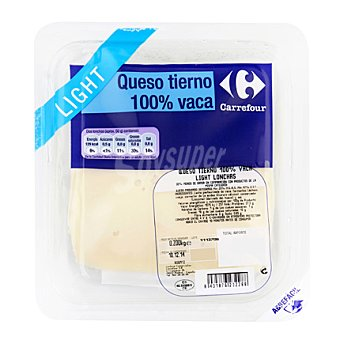 Queso light 100% vaca Sobre de 200 g