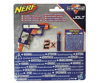 NERF Pistola lanzadora de dardos de foam tamaño mini Elite Jolt, incluye 2 dardos 1 uniad