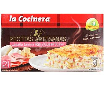La Cocinera Lasaña de jamón-queso Caja 530 g