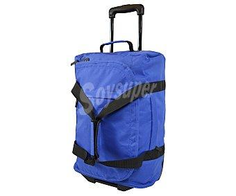 AIRPORT Bolsa de viaje multibolsillos con ruedas, de color azul marino, con las asas en color en negro, tirador telescópico abatible y medidas de 36x20x54 centímetros AIRPORT 54cm