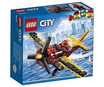 LEGO City Juego de construcciones con 89 piezas Avión de carreras, City 60144 lego