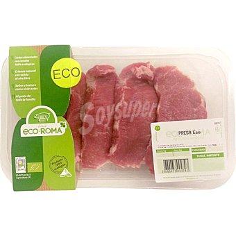 ECOROMA Presas frescas de cerdo ecológico peso aproximado Bandeja 250 g