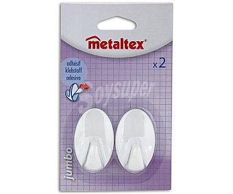 METALTEX Juego de 2 perchitas adhesivas Jumbo Pack de 2 Unidades