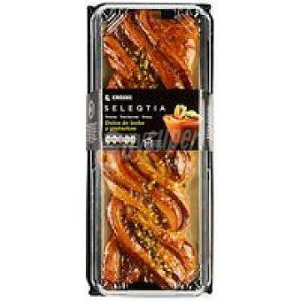 Eroski Seleqtia Trenza de dulce de leche con pistachos Eroski 450 g