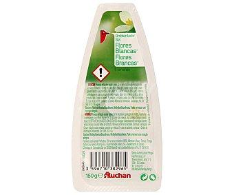 Auchan Ambientador absorbeolores en gel fragancia flores blancas 150 gramos