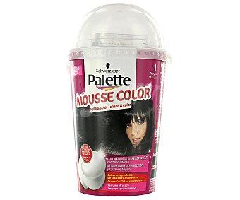 Palette Schwarzkopf Tinte negro Nº1 Mousse Color Caja 1 unid