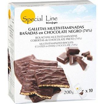 Special Line Galletas multivitaminadas bañadas en chocolate y leche Envase 200 g