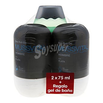 Mussvital Deo Roll On Hombre pack de 2x75 ml.
