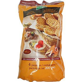 El Corte Inglés Barritas de pan tostadas integrales bolsa 800 g 4 paquetes 200 g