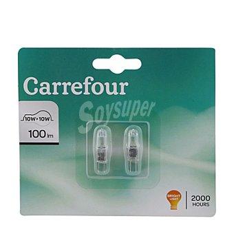 Carrefour Bombillas hológenas cápsula 10W G4 12V 2 ud