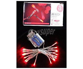 Actuel Luces de navidad con 20 leds con luz fija de color rojo ACTUEL 20 led rojo