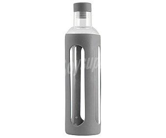 Home Botella de vidrio con recubrimiento de silicona color gris, home 0,36 litros