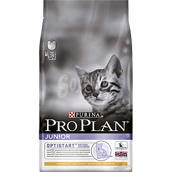 Pro Plan Purina Alimento para gatitos hasta 1 año para reforzar la salud intestinal con pollo Junior Optistart Bolsa 1,5 kg