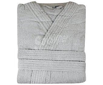 Actuel Albornoz adulto talla l-xl 100% algodón color gris plata, /m², actuel 340 g