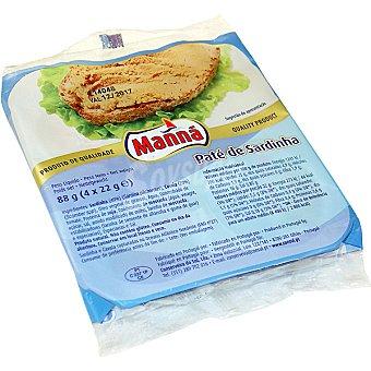 Manna Paté de sardinas envase 88 g Pack 4 unidades