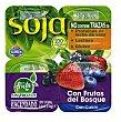Postre soja con frutas del bosque Pack 4 x 125 g - 500 g Hacendado
