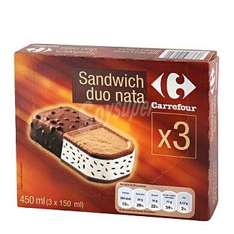 Carrefour Sandwich duo nata Caja de 3 ud