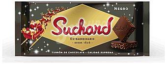 Suchard Turrón crujiente de chocolate negro con arroz inflado Tableta 260 g