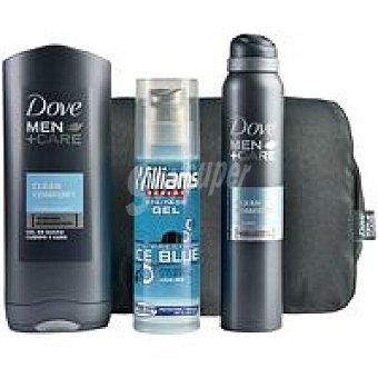 Dove Pack para hombre desodorante + gel ducha + gel afeitar 1unidad