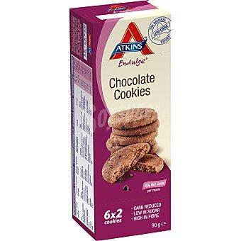 ATKINS ENDULGE Galletas con chocolate ricas en fibra bajas en azúcar 6x2 unidades (envase 90 g)