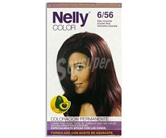 NELLY Color Tinte en crema Rojo Granate Nº 6/56 1 Unidad