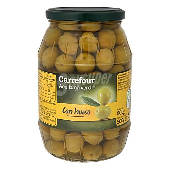Carrefour Aceituna verde con hueso 500 g