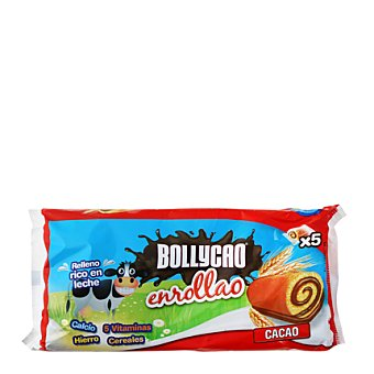 Bollycao Bollito enrollao de cacao pack de 5x35 g