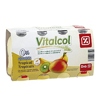 DIA VITAL Yogur líquido reduce colesterol tropical Pack 8 uds x 100 g