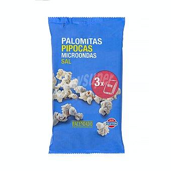 Hacendado Palomitas microondas saladas 3u x 90 g (270g)