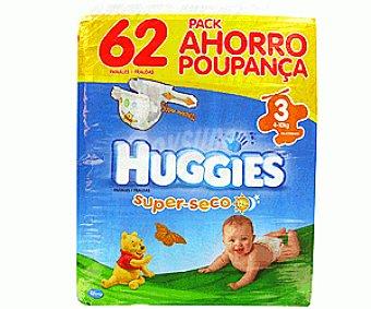 Huggies Pañal Talla 3 Paquete 62 unid