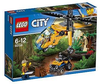 LEGO City Juego de construcciones con 201 piezas Jungla: Helicóptero de transporte, City 60158 lego