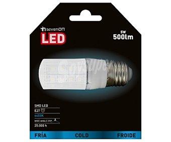 SEVENON Led SMD Mini de alta intensidad lumínica E27 5W Luz Fría 1 Unidad
