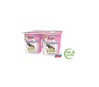 Kalise Yogur desnatado piña coco Pack 4x125 grs