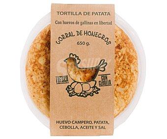 Corral de monegros Tortilla de patatas fresca y con cebolla 650 g