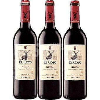 El Coto Vino tinto crianza D.O. Rioja estuche de cartón 3 botellas 75 cl