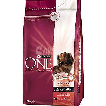 One Purina Alimento para perro de raza mini de ingredientes de alta calidad con pollo y arroz Adult Mini Bolsa 1,5 kg